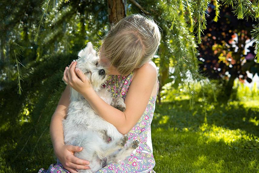 Convívio com animais de estimação traz benefícios para as crianças